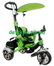 Trojkolka sporttrike nafukovacie kolesá-zelená,