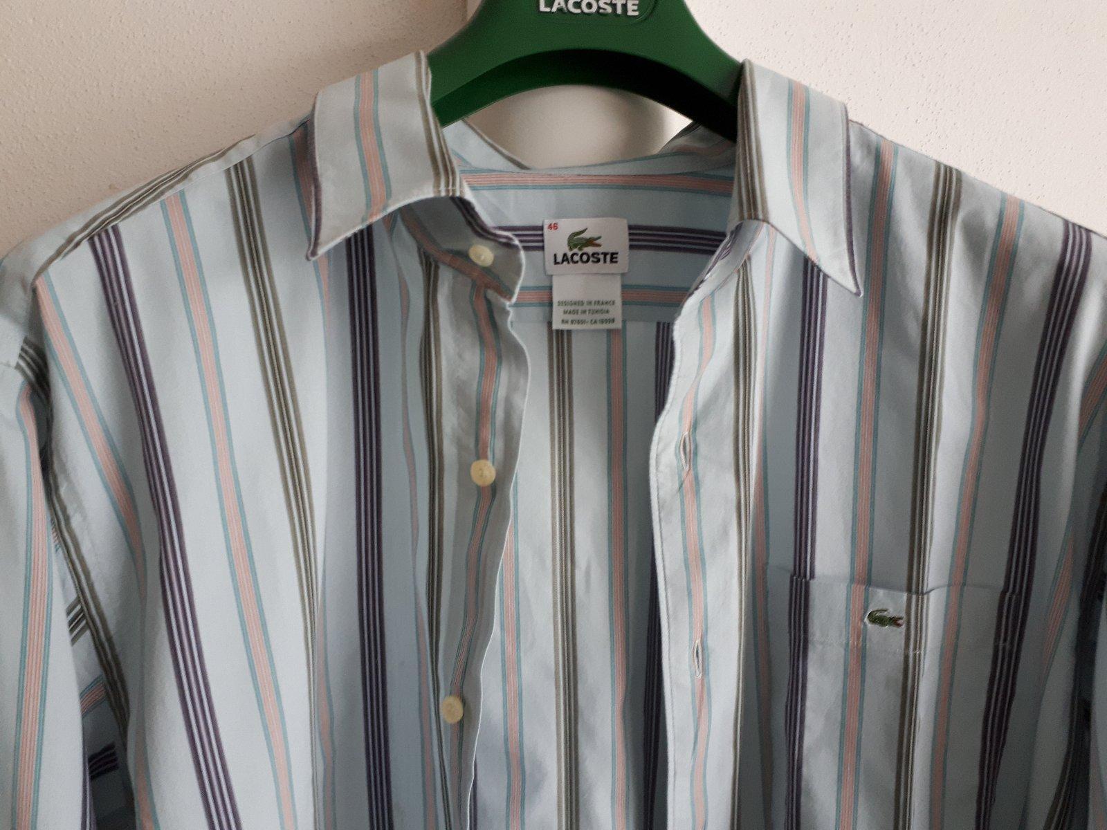 1c36ad7547940 Pánska lacoste košeľa top stav, lacoste,46 - 10 € od predávajúcej tajuja | Detský  bazár | ModryKonik.sk