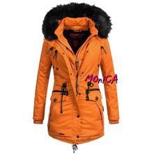 Oranžová zimná parka - rose, l - xxl