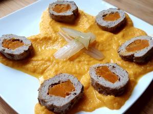 Teľacie s hokaido tekvicou a mrkvový krém s feniklom