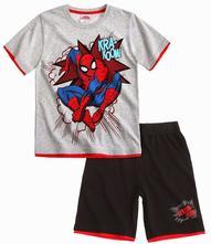 Chlapčenský letný set spiderman sivo-čierny, marvel,128