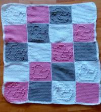 Háčkovaná deka pre dievčatko,