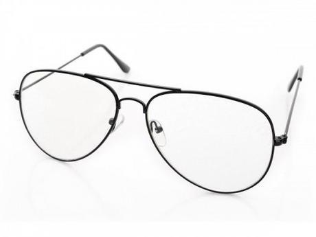 Štýlové číre okuliare aviator pilotky - čierne c779545a219