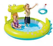 Nafukovací detský bazénik krokodýl so sprchou.,