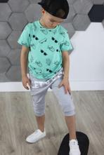 Chlapčenské tričko s krátkym rukávom mm 406 mint, 92 - 128