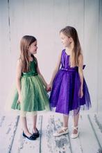 d0bb9cc65f9d Trblietavé šaty bodka - zelené alebo fialové