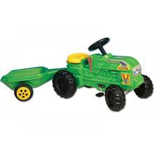 Veľký šľapací traktor s vlečkou,