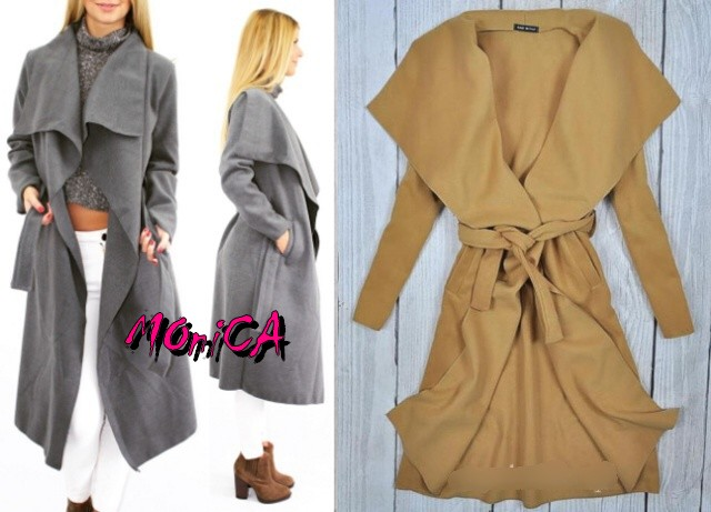 7e7a4ed59140 Dámsky flaušový oversize kabát - 5 farieb