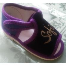 Fialové papučky s menom vašej princezničky, s´botex,<17 - 33