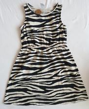 Šaty z organickej bavlny (zebra), lindex,122 / 128