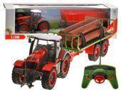 Velký traktor s privesom na dialkove ovladanie,