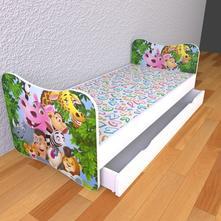 Detská posteľ bez bočníc - madagaskar,