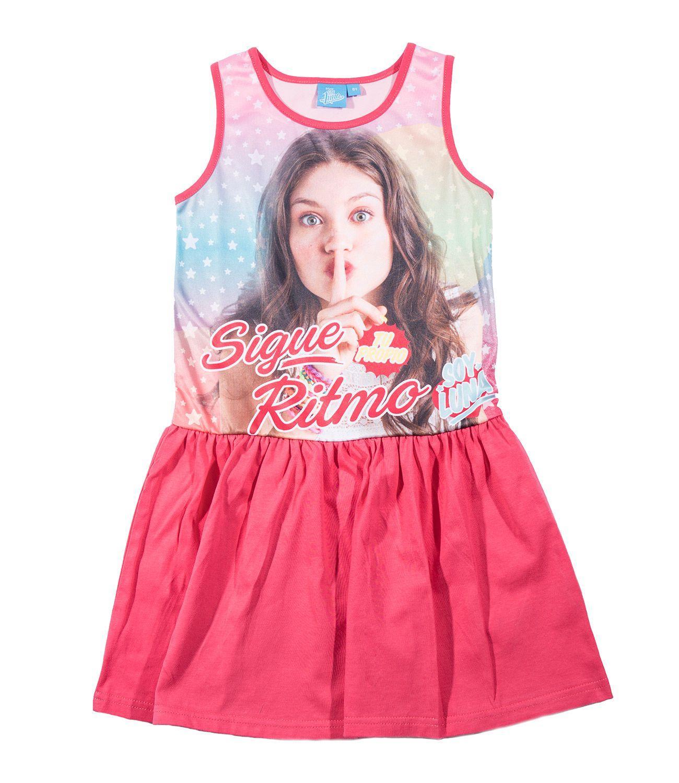ff4a36fb516b Letné dievčenské šaty disney soy luna fuchsia