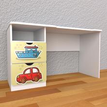 Detský písací stôl so zásuvkami ľavý - doprava,
