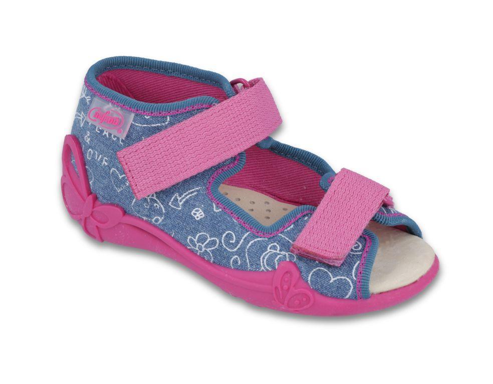 d04c009134fd Dievčenské sandálky modro-ružové