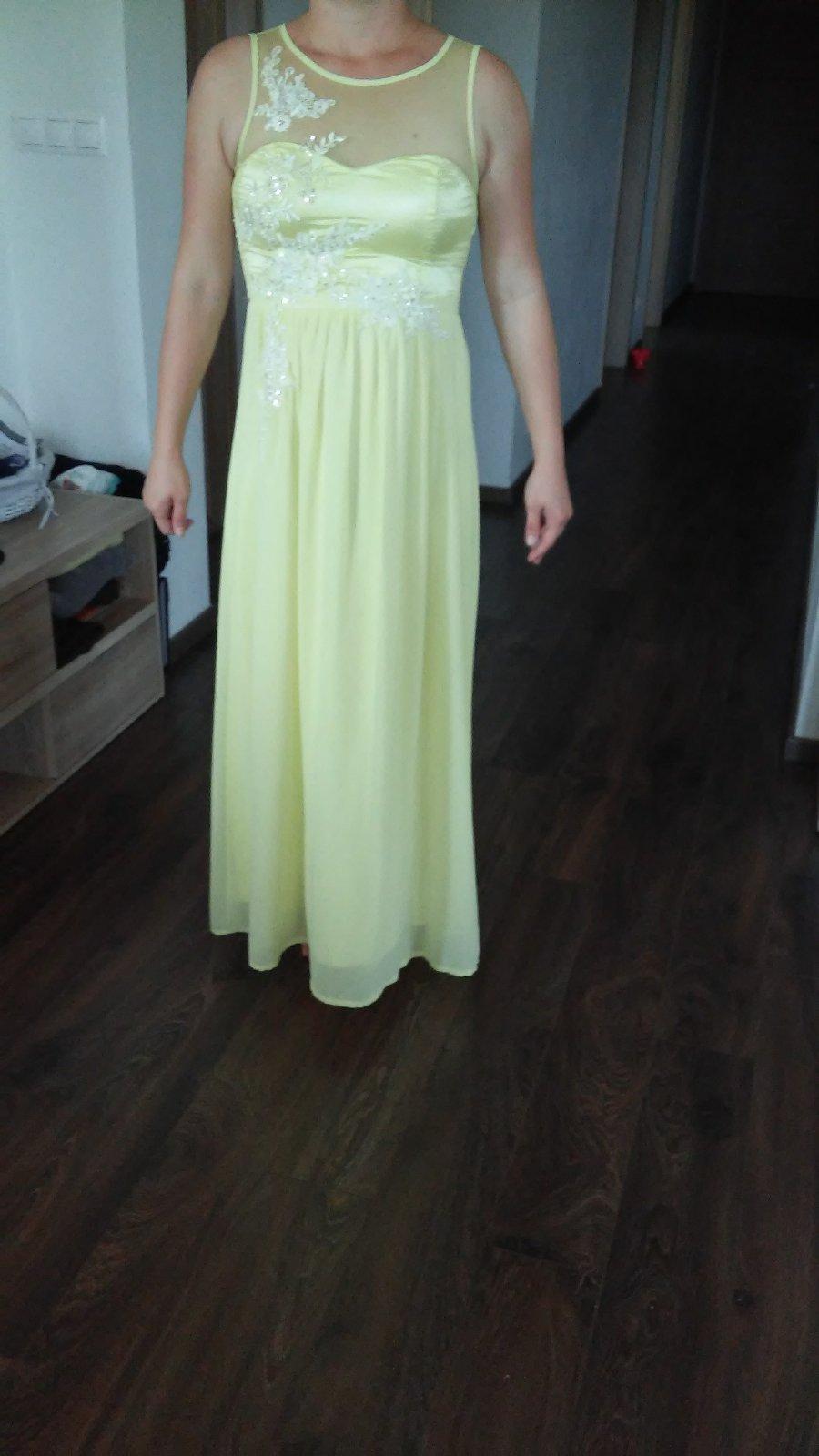 211be98552dc Žlté dlhé spoločenské šaty