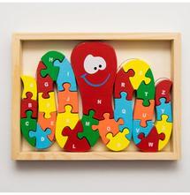 Drevené puzzle od a-z, číslice od 1-26,