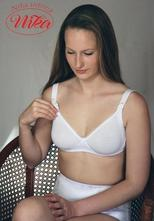 Nika intima materská podprsenka 011 bavlna - biela, l / m / s / xl