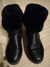 Čierne čižmy s kožušinkou 2v1,č.37, 22,5cm, 37