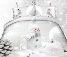 Obliečky -140 x 200 cm snehuliak  - skladom, 140,200