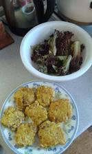 14.den - obed. Kuracie karbonatky zo zelerom a salat. Vacsie kuracie prso, olivovy olej, 1/4 zeleru, 1 zltok, sol, korenie, mleta rasca. 15.den - obed, 22.den - vecera a 28.den - obed