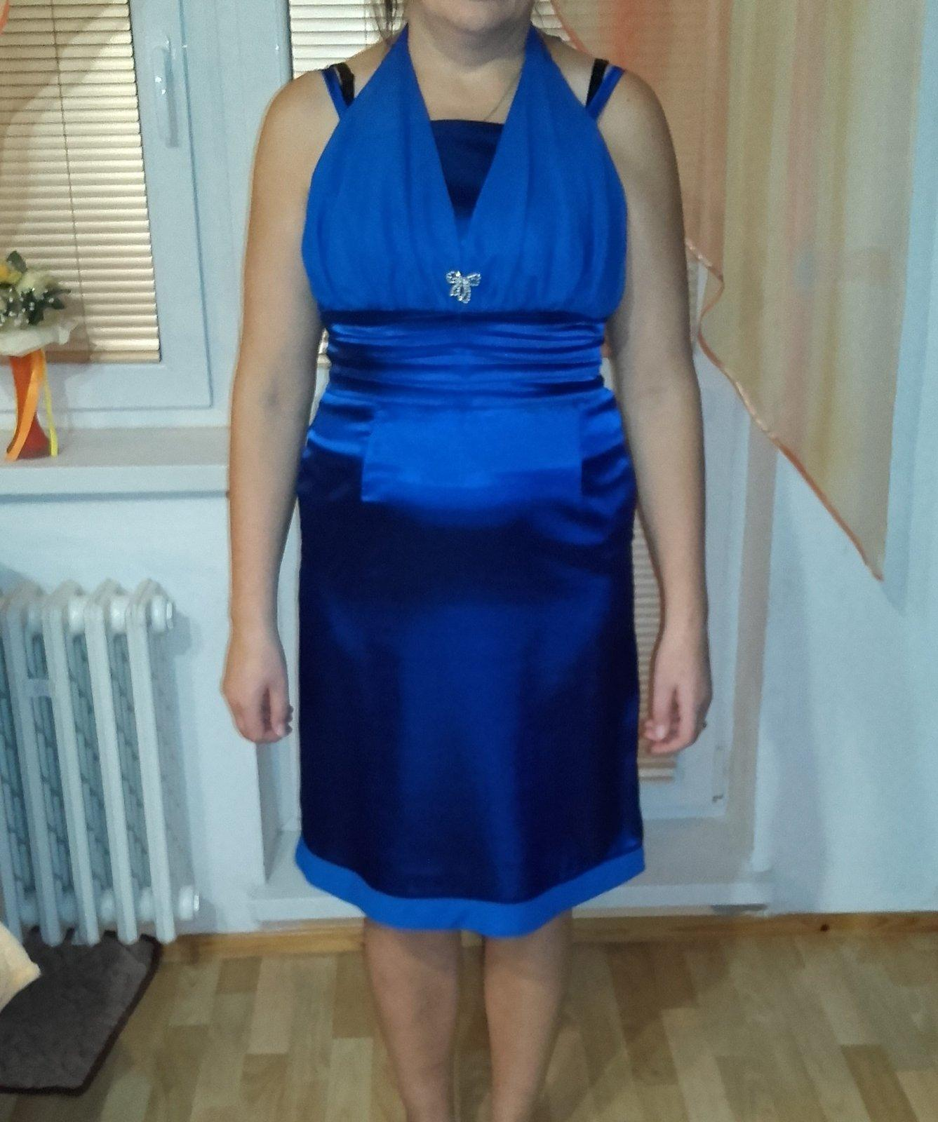 Modré spoločenské šaty efd6c91aac1