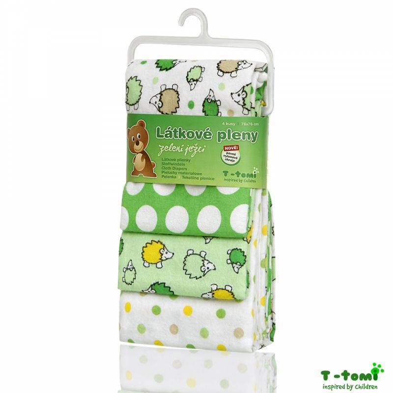 e8cdb94c99c1a Bavlnené plienky s flanel. úpravou zelení ježkovia, t-tomi - 12,30 € od  predávajúcej rinuska   Detský bazár   ModryKonik.sk