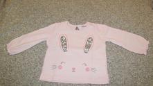 Chutnučké tričko f&f so zajkom veľkosť 6-9 m (74), f&f,74