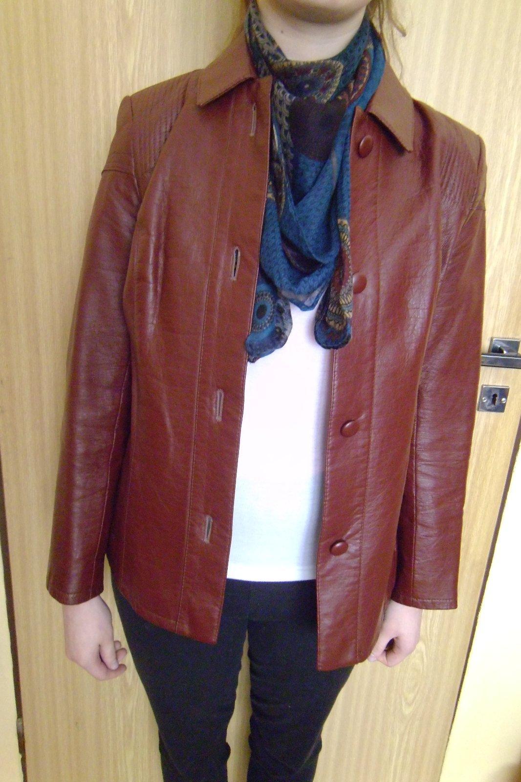 Dámske kožené sako bunda veľ.38  d504c320811