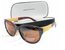 Dámske slnečné okuliare zus brown/gold + puzdro,