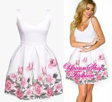 Úžasné dámske kvetované šaty, l / m / s / xl / xs