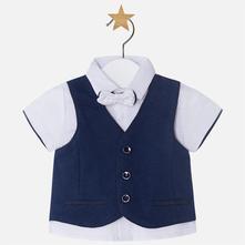 Mayoral chlapčenská košeľa s vestou 1110-040 navy, mayoral,62 / 68 / 74