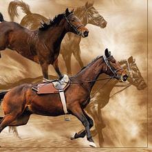 Servítka hnedé kone,