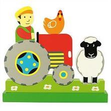 Magnetické vertikálne puzzle traktor,