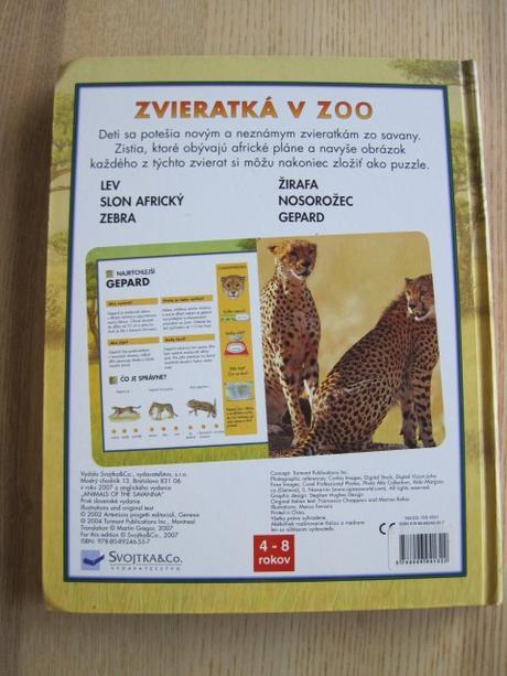 d84f4326b Kniha s puzzle - zvieratká v zoo od svojtka, - 4 € od predávajúcej ...