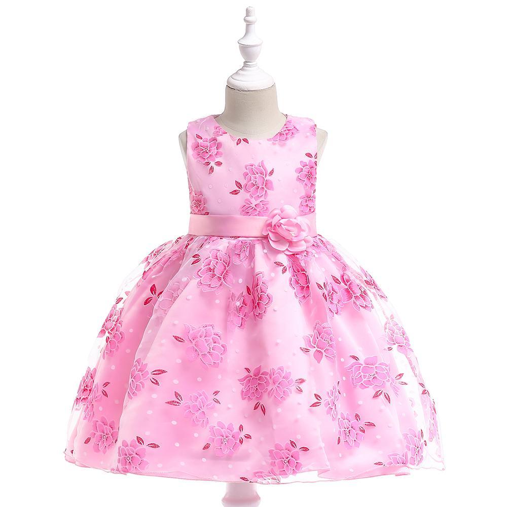 Krásne kvetované šaty l620 - ružové c618b499277
