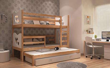 772a01756bb91 Poschodová posteľ max 3 s prístelkou 185x80 biela , - 329 € od predávajúcej  detskapostel | Detský bazár | ModryKonik.sk