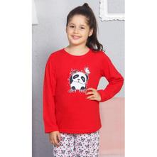 Detské dlhé bavlnené pyžamo panda a vtáčik., vienetta kids,134 - 176