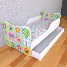 Detská posteľ s pevnými bočnicami - prikrývka,