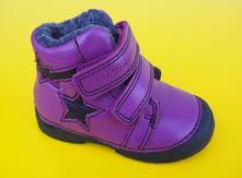 Zimné kožené topánky d.d.step 038 - 252 lavender, d.d.step,19 / 24