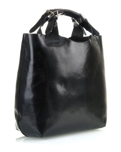 516d138565 Luxusná talianska kožená kabelka shopperbag čierna