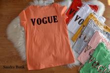 Luxusné dámske tričko vogue, l / m / s / xl