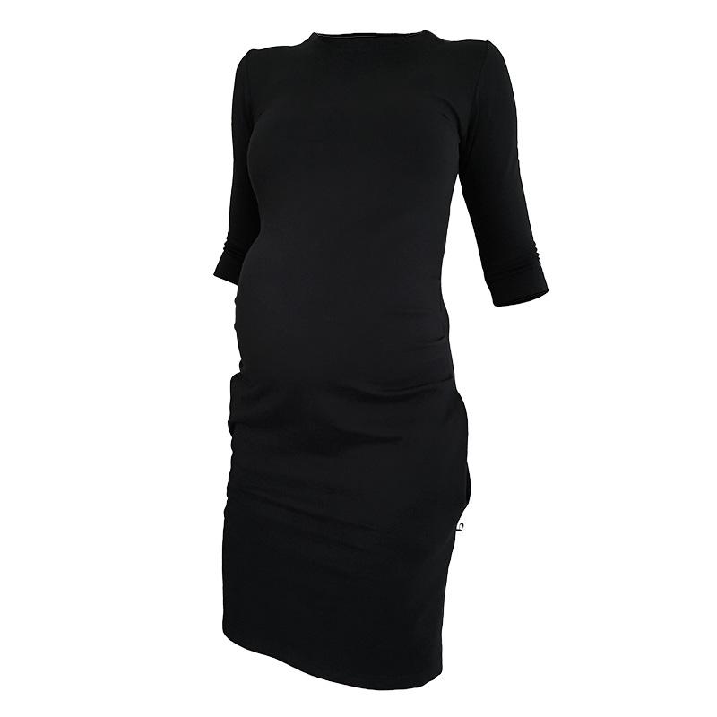 42ae323a418c Pekný deň.  3. Teplé tehotenské šaty black ...