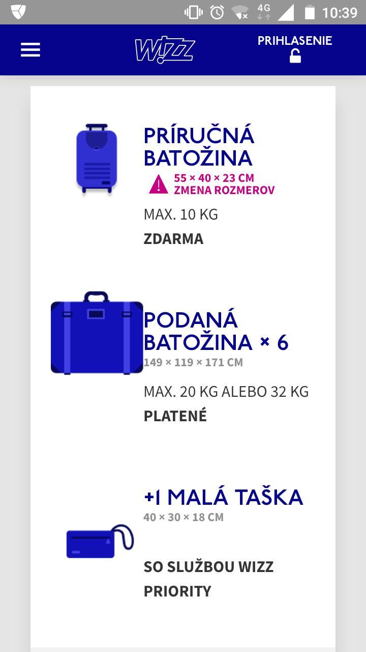 b9f360352ac1c Príručná batožina Wizzair - Modrý koník