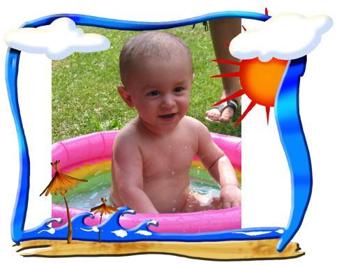 7 mesiac a pohoda v bazene