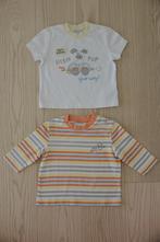 1 tričko s dlhým a 1 tričko s krátkym rukávom, cherokee,68