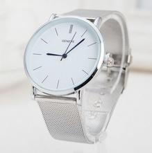 Luxusní dámské hodinky geneva silver blue f64724b7cda