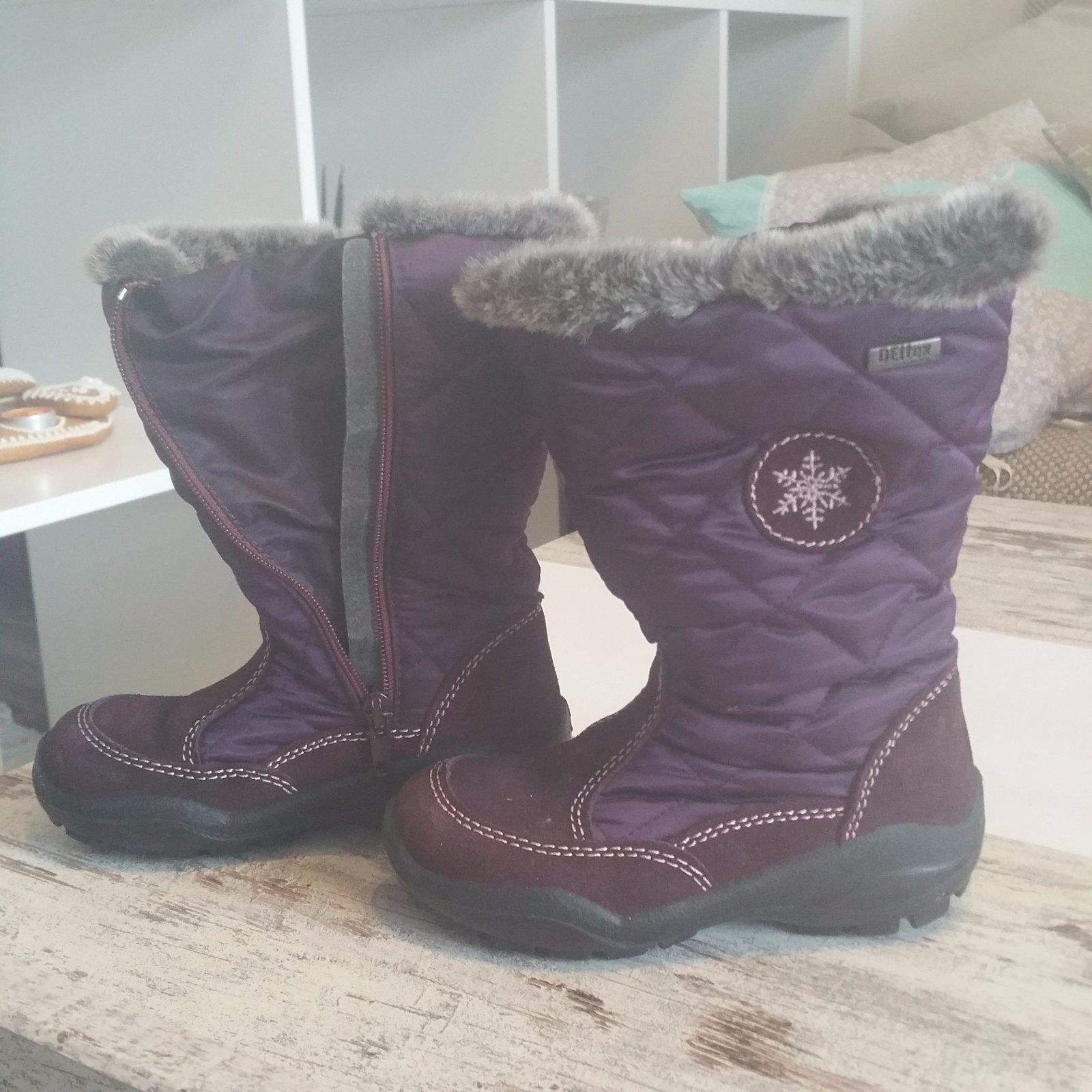 Dievčenské teplé čižmy snehule 80b6897b572