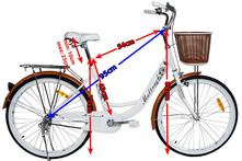 Dámsky bicykel retro štýl - hnedý,