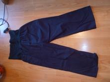 Čierné tehotenske nohavice-krátke, s